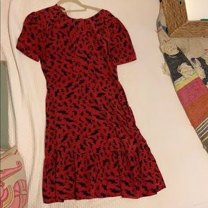Zoe Karssen red patterned dress